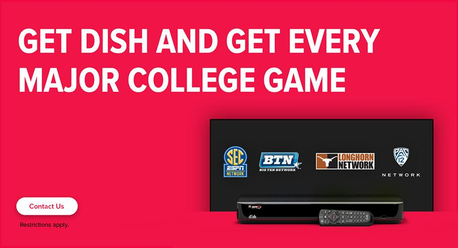 Sports TV Package - College Sports - Palestine, Texas - Satellite Source, LLC - DISH Authorized Retailer